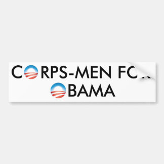 CORPSMAN FOR OBAMA BUMPER STICKER