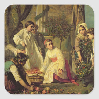 Corpus Christi, 1855 Square Sticker