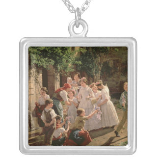 Corpus Christi Silver Plated Necklace