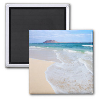 Corralejo Flag Beach Square Magnet