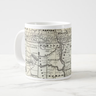 Correct map of Dakota Giant Coffee Mug