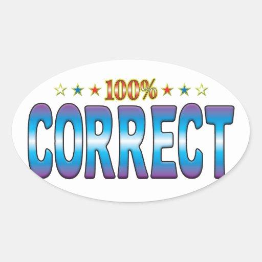 Correct Star Tag v2 Oval Sticker
