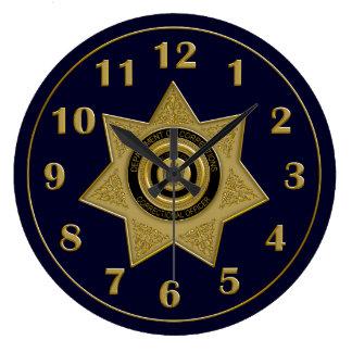 Correctional Officer Badge Wall Clock