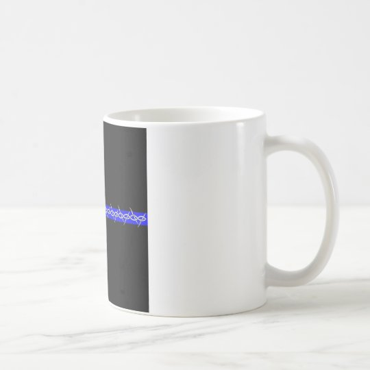Corrections Barbed Wire Blue Line Coffee Mug
