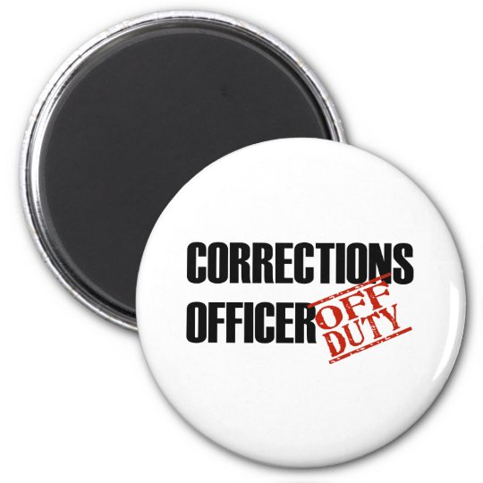 CORRECTIONS OFFICER LIGHT 6 CM ROUND MAGNET