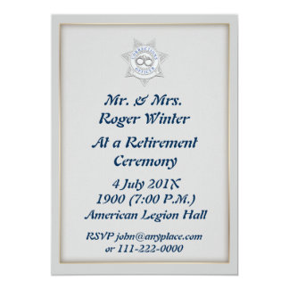 Corrections Officer Retirement Invitation