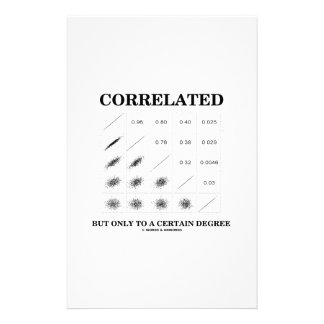 Correlated But Only To A Certain Degree Statistics Stationery Paper