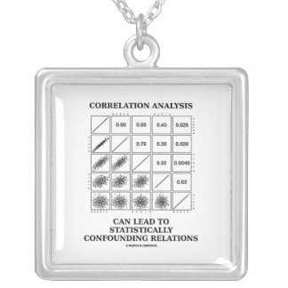 Correlation Analysis Can Lead Confounding Relation Square Pendant Necklace