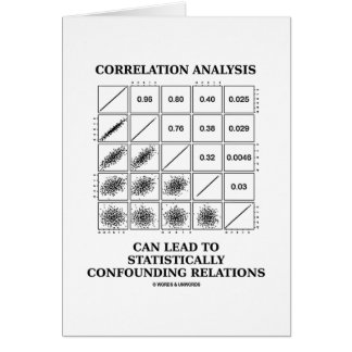 Correlation Analysis Lead Statistically Relations Greeting Card