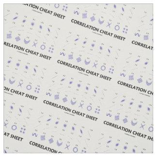 Correlation Cheat Sheet (Correlation Coefficients) Fabric