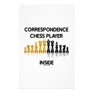 Correspondence Chess Player Inside (Chess Set) Personalized Stationery