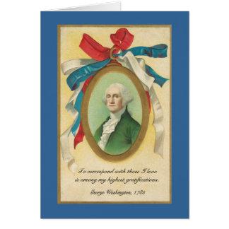 Correspondence is Gratifying, by Geo. Washington - Greeting Card