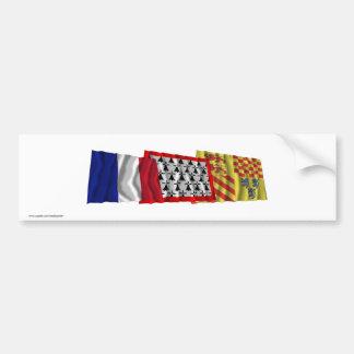 Corrèze, Limousin & France flags Bumper Sticker