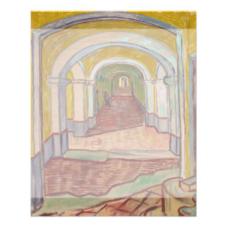 Corridor in the Asylum by Vincent Van Gogh 11.5 Cm X 14 Cm Flyer