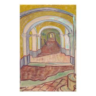 Corridor in the Asylum by Vincent Van Gogh Full Color Flyer