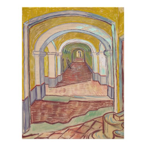Corridor in the Asylum by Vincent Van Gogh Personalized Flyer