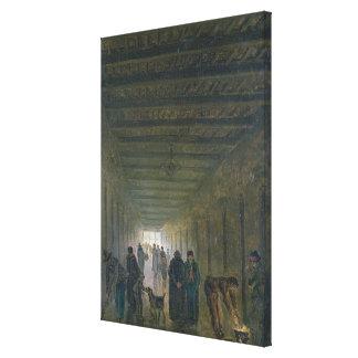 Corridor of the Saint-Lazare Prison in 1793 Canvas Print