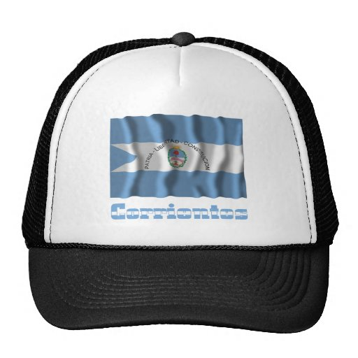 Corrientes waving flag with name trucker hat