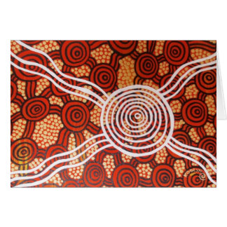 Corroboree II Aboriginal Art Card