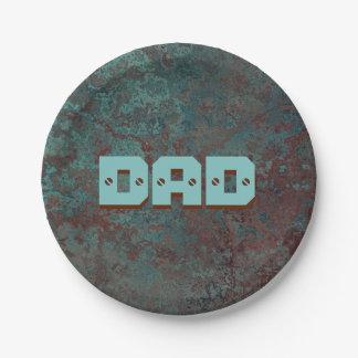 """Corrosion """"Copper"""" print DAD paper plate"""