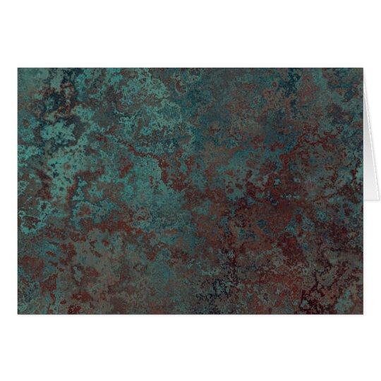 """Corrosion """"Copper"""" print inside text Card"""