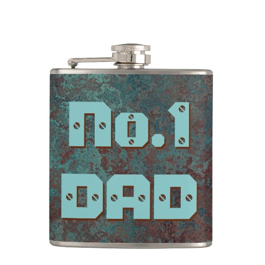 """Corrosion """"Copper"""" print No.1 DAD flask wrapped"""