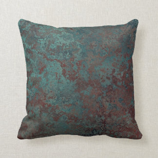 "Corrosion "" Copper"" print throw pillow square"
