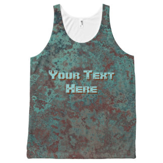 """Corrosion """"Copper"""" Text print all-over tank top"""
