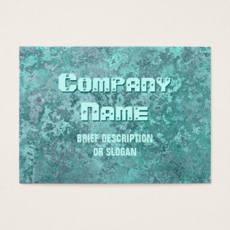 Corrosion green print 'description' chubby business card