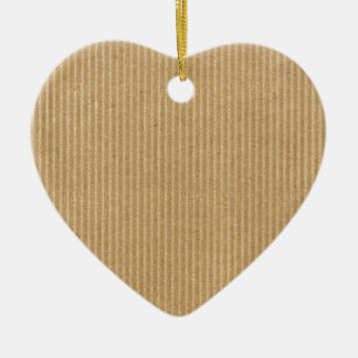 Corrugated cardboard ceramic heart decoration