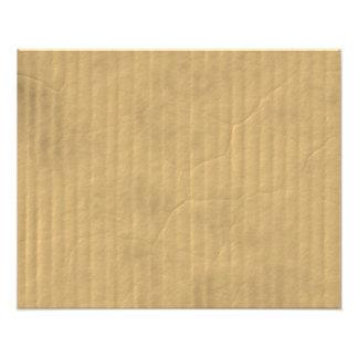 Corrugated Cardboard Texture Art Photo