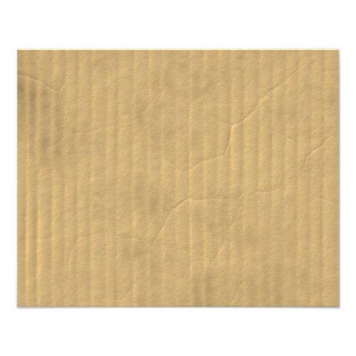 Corrugated Cardboard Texture Photograph