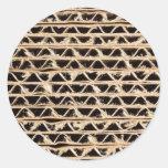 Corrugated cardboard texture sticker