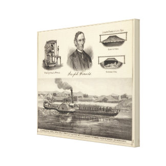 Corrugated iron steam yacht canvas print