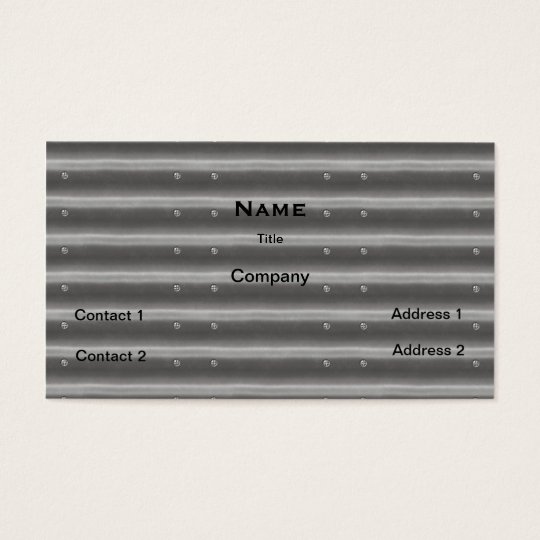 Corrugated Steel Look Business Card
