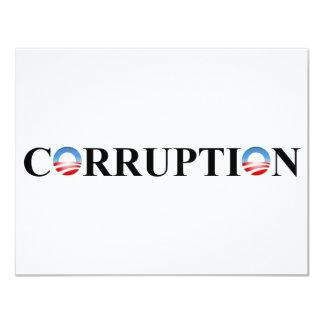 CORRUPTION 11 CM X 14 CM INVITATION CARD