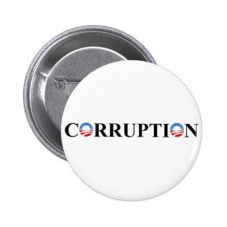 CORRUPTION 6 CM ROUND BADGE