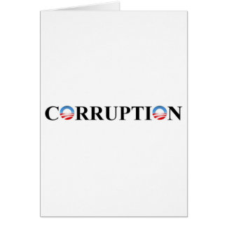 CORRUPTION GREETING CARD