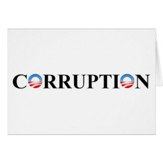 CORRUPTION GREETING CARD