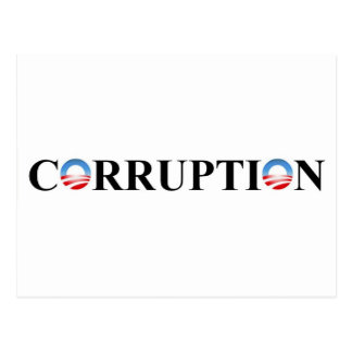 CORRUPTION POSTCARD
