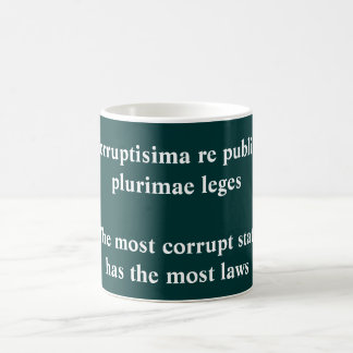 Corruptisima re publica coffee mug