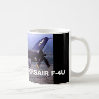 CORSAIR F-4U BLACK SHEEP SQUADRON CLASSIC WHITE COFFEE MUG