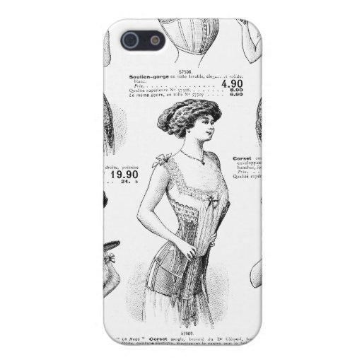 Corset Ad Paris Winter 1909-1910 Cover For iPhone 5