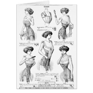 Corset Ad Paris Winter 1909-1910 Note Card