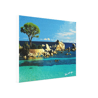 Corsica, another sight of Palombaggia Canvas Print
