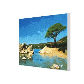 Corsica, beach of Palombaggia Canvas Print