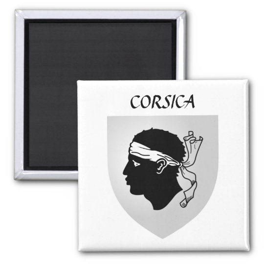 Corsica Coat of Arms Square Magnet