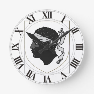 Corsica France Coat of Arms Round Clock