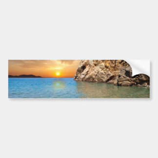 corsican landscape bumper sticker