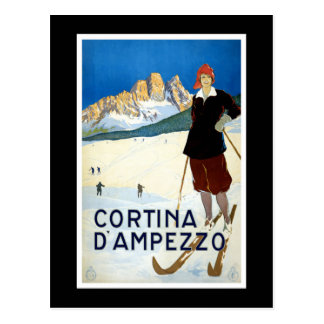 Cortina d Ampezzo Vintage Travel Poster Post Cards